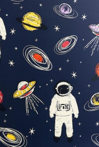 Spaceman Navy Multicoloured by Arthouse