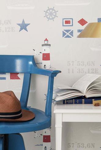 Marstrand Lighthouse By Boras Tapeter