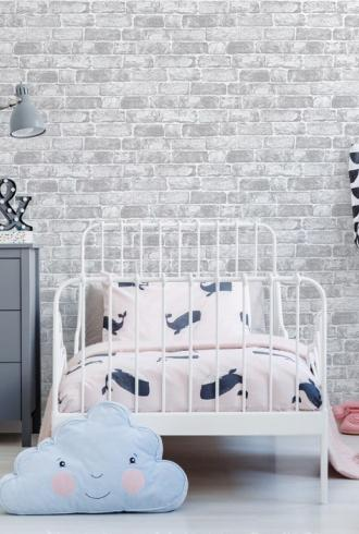 White Brick Wall by Graham & Brown