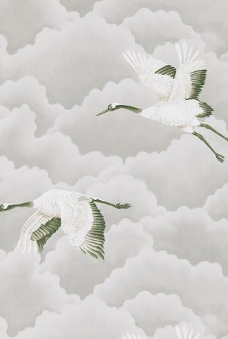 Cranes In Flight by Harlequin