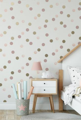 Dotty Polka Pink American Gold by Graham & Brown