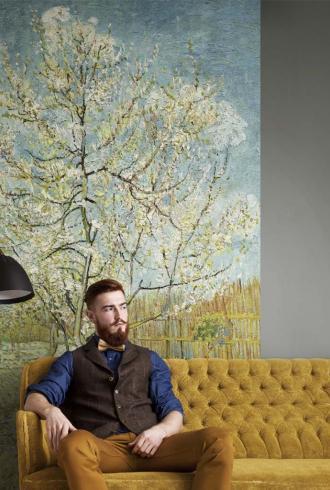 Van Gogh Peach Tree Digital Panel By BN Wallcoverings