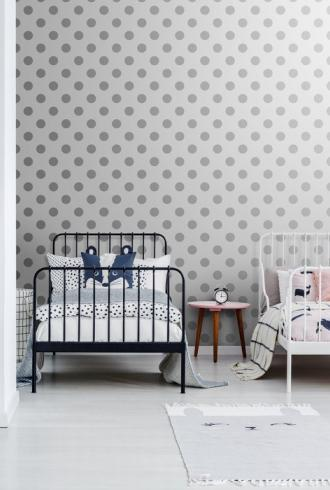 Silver Dotty by Graham & Brown