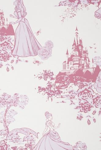 Princess Pink Toile by Graham & Brown