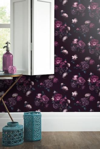 Euphoria Floral Plum by Arthouse