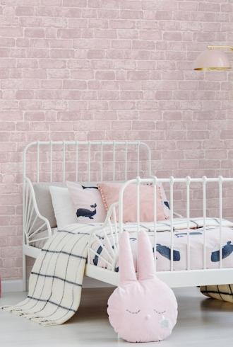 Pink Brick by Graham & Brown