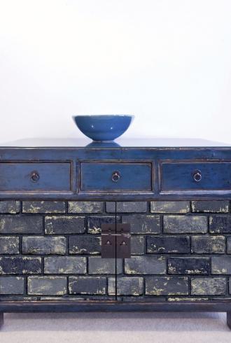 ArtiStick Metallic Brick Navy/Gold by Arthouse