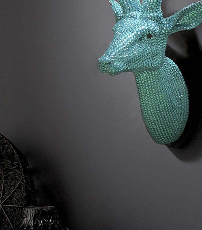 Aquamarine Crystal Stag By Arthouse