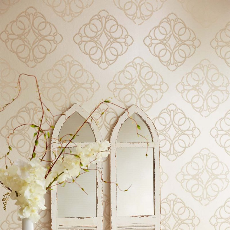 Venue Beaded Damask By Eijffinger