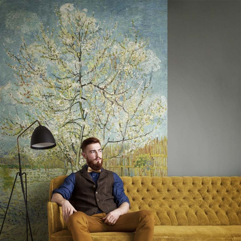 Van Gogh Peach Tree Digital Panel By BN Wallcoverings