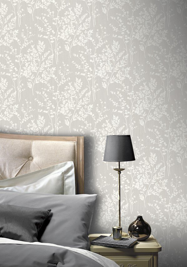 Diamond Fern Silver by Arthouse