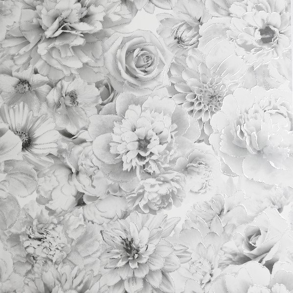 Glitter Bloom Silver by Arthouse
