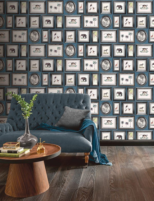 Powder Room Navy by Arthouse