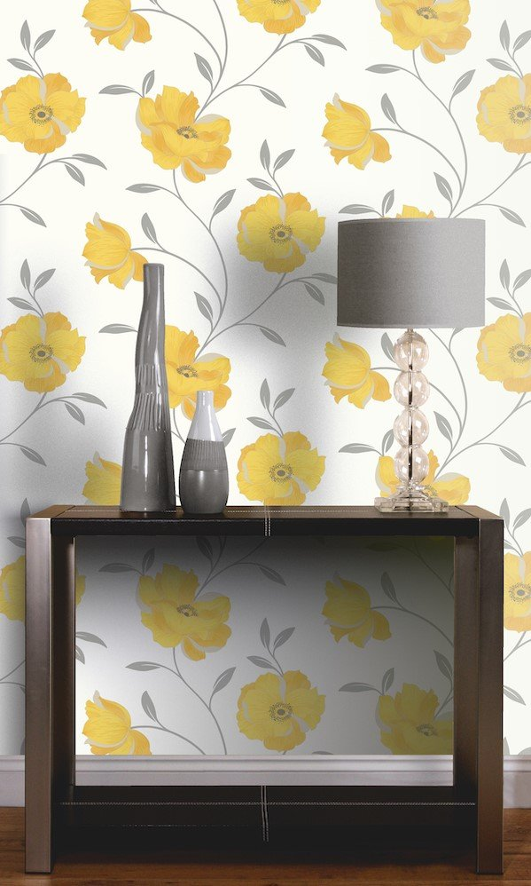 Sophia Motif Yellow by Arthouse