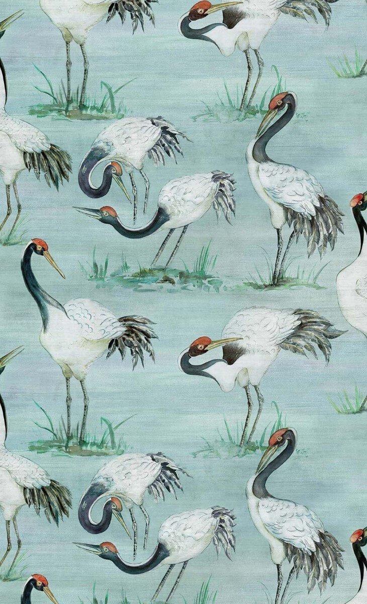 Cranes W7456-02 by Osborne & Little