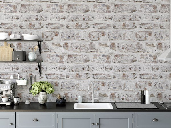 ArtiStick White Washed Wall by Arthouse